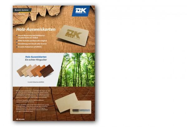 Datenblatt Holz Ausweiskarte