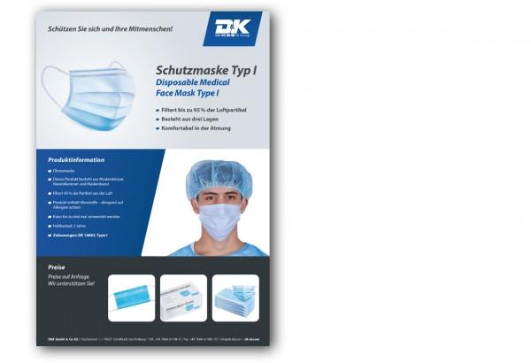 Datenblatt Schutzmaske Typ I