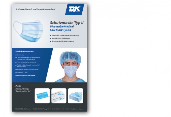 Datenblatt Schutzmaske Typ II