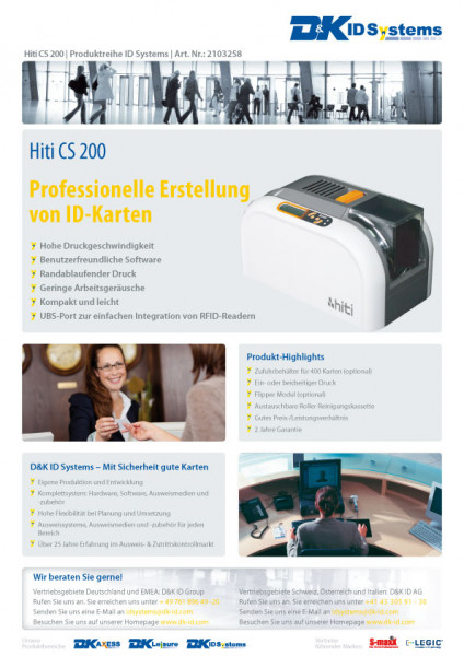 Datenblatt Hiti CS 200